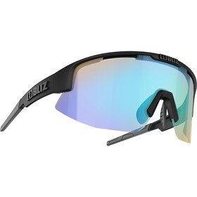 Bliz Matrix M11 Okulary dla wąskich twarzy, matte black/dark grey/jawbone orange/blue multi nordic light